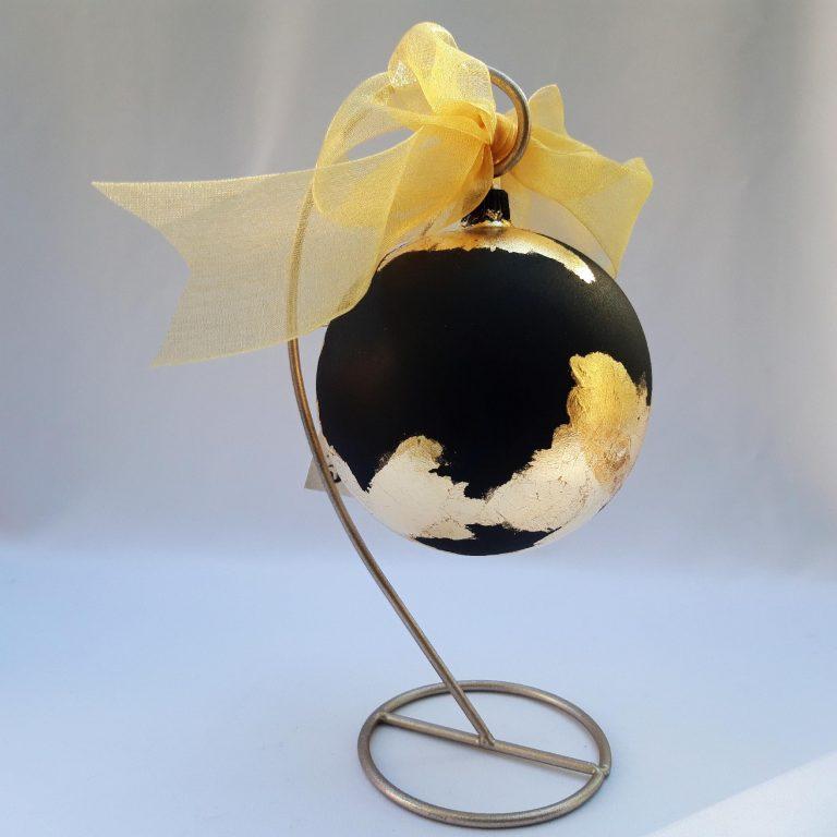 Glob negru auriu 10 cm