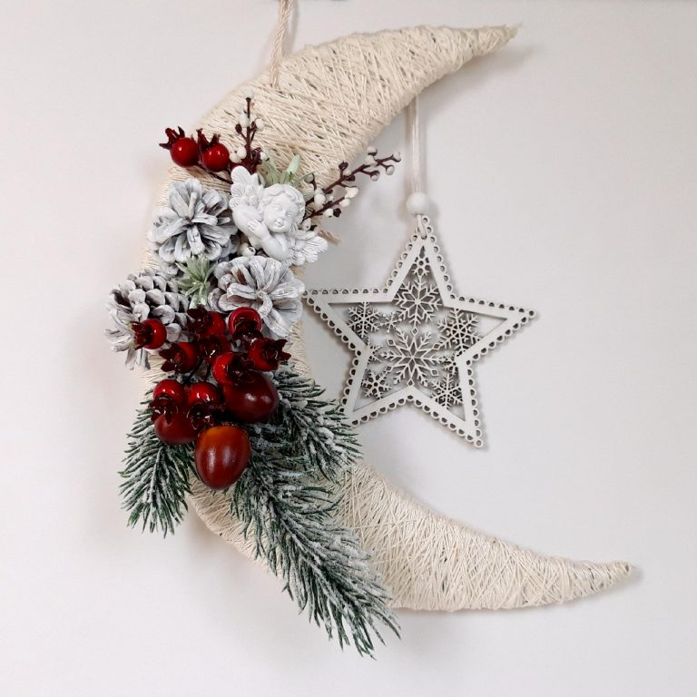 Lună decor Crăciun 24 cm în cutie
