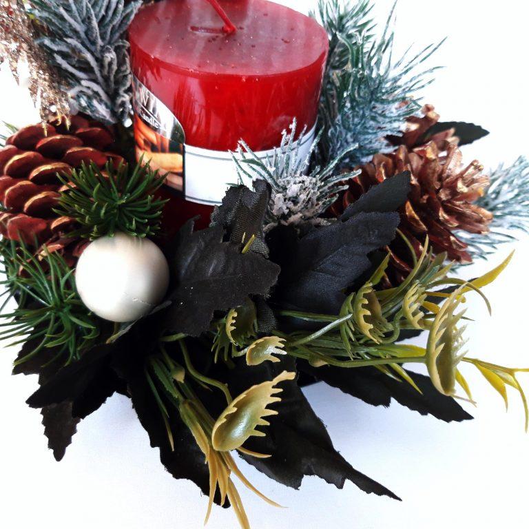 Aranjament festiv lumânare, 22 cm spate