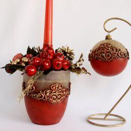 "Colectia ""Deep Red Golden Christmas"""
