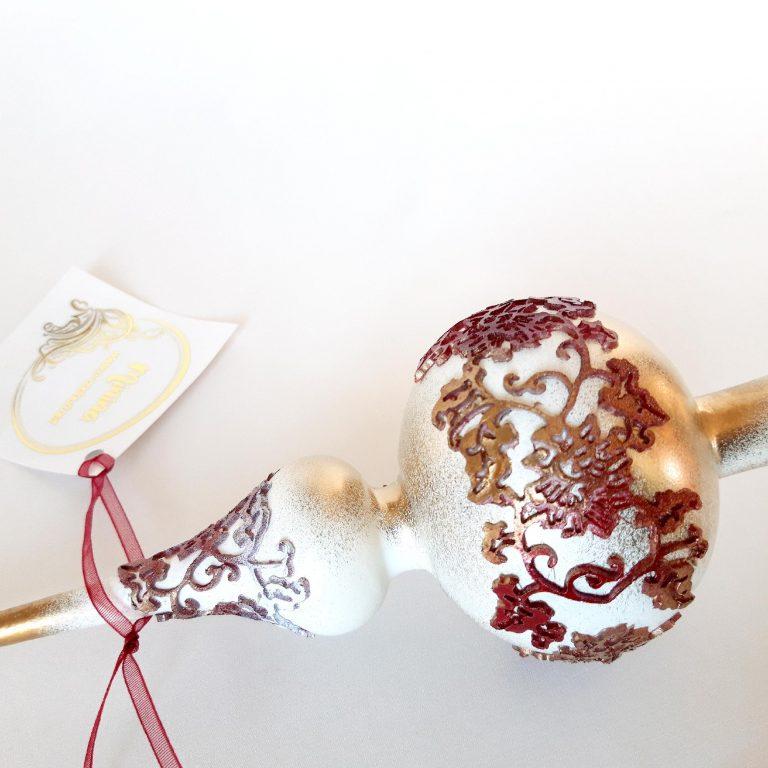 Vârf brad Crăciun cu dantelă silicon, 32 cm detaliu