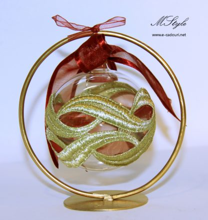 Cadouri Craciun Glob sticla cu stativ in cutie deluxe 1