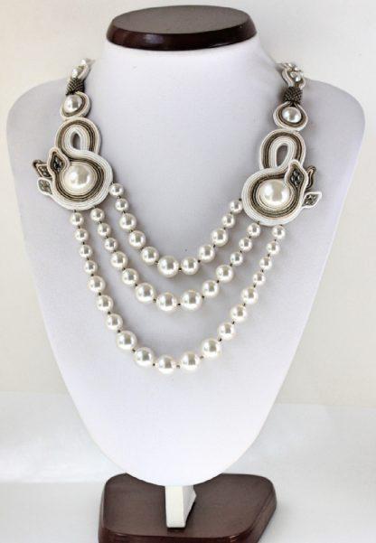 Colier soutache si perle
