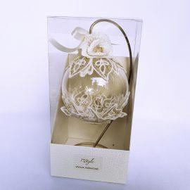 glob craciun dantela ivoire cutie