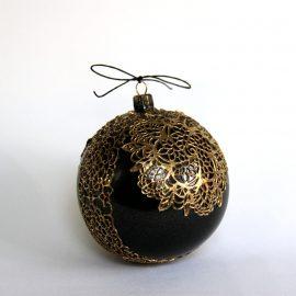 glob craciun negru auriu
