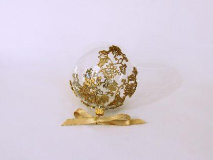 glob craciun sticla dantela aurie silicon
